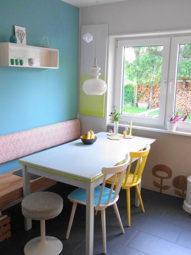 st hle farbe in die k che pinterest k che 60er sitzecke k che und st hle. Black Bedroom Furniture Sets. Home Design Ideas