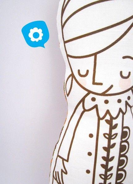 Bashful Mabel Doll No. 011  Eco Friendly by junecraft on Etsy
