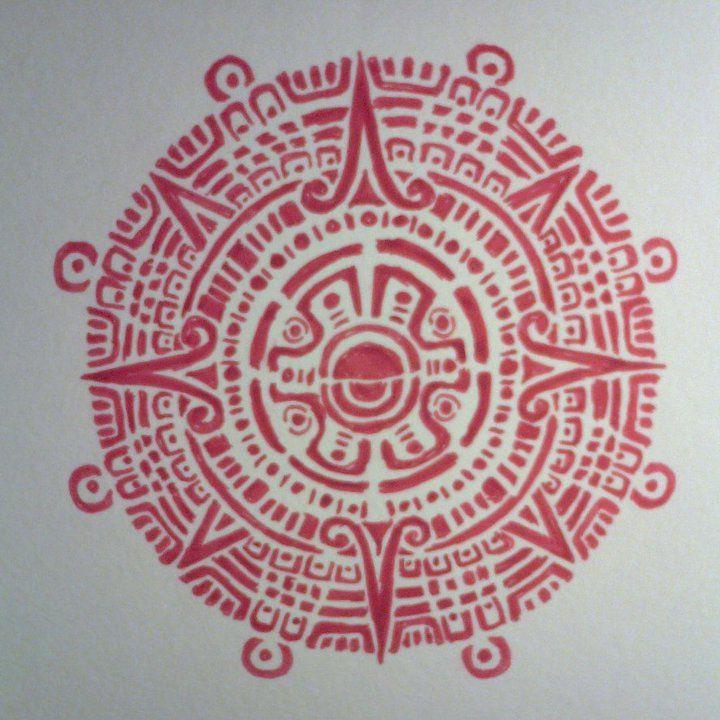 Mayan Sun Symbolcalendar By Ashley Harpole Simple Designs And
