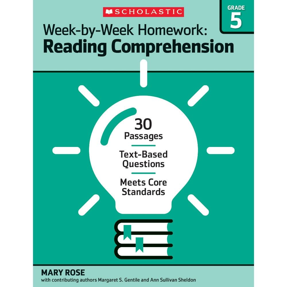 Scholastic Week By Week Homework Reading Comprehension Workbook