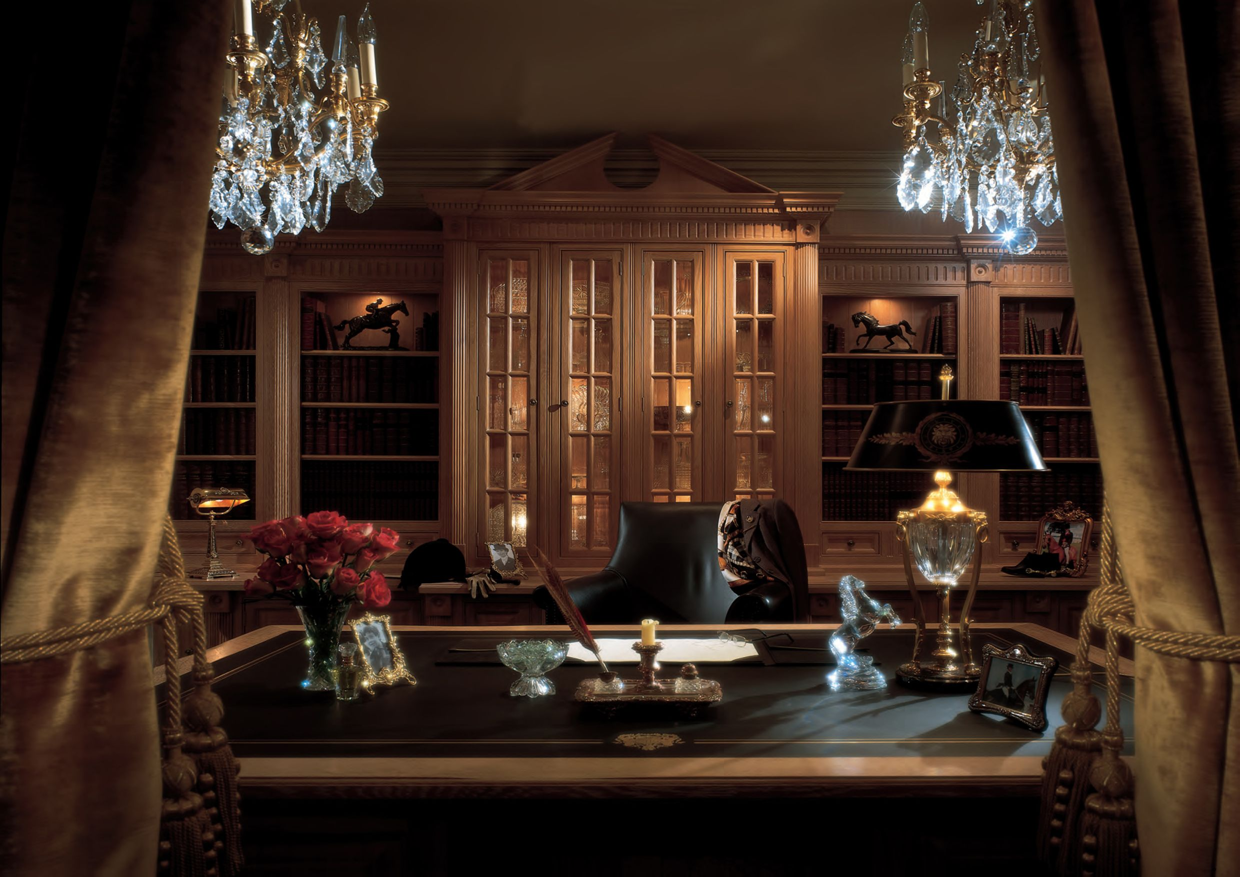 custom home designs christian custom study or home office blends luxury classic home - Luxury Home Office Design