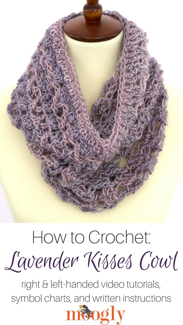 Lavender Kisses Cowl - free crochet pattern and video tutorial on ...