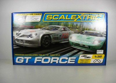 Scalextric Gt Force Race Slot Car Track Set 1 32 Scale Mercedes Vs Ford C1274t Ebay Racing Toy Car Slot Cars
