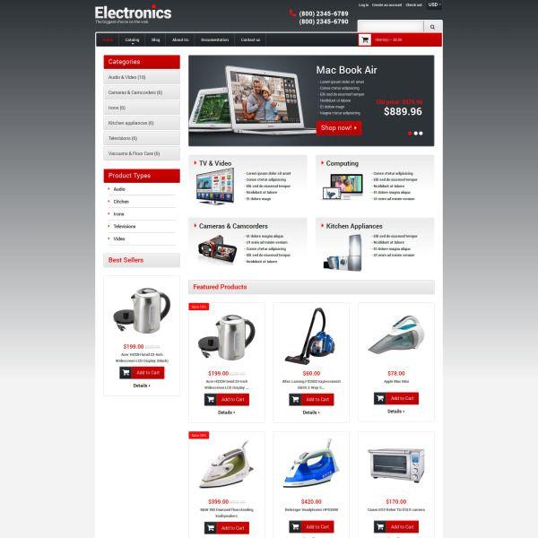 Electronics Store Responsive Shopify Theme 49518