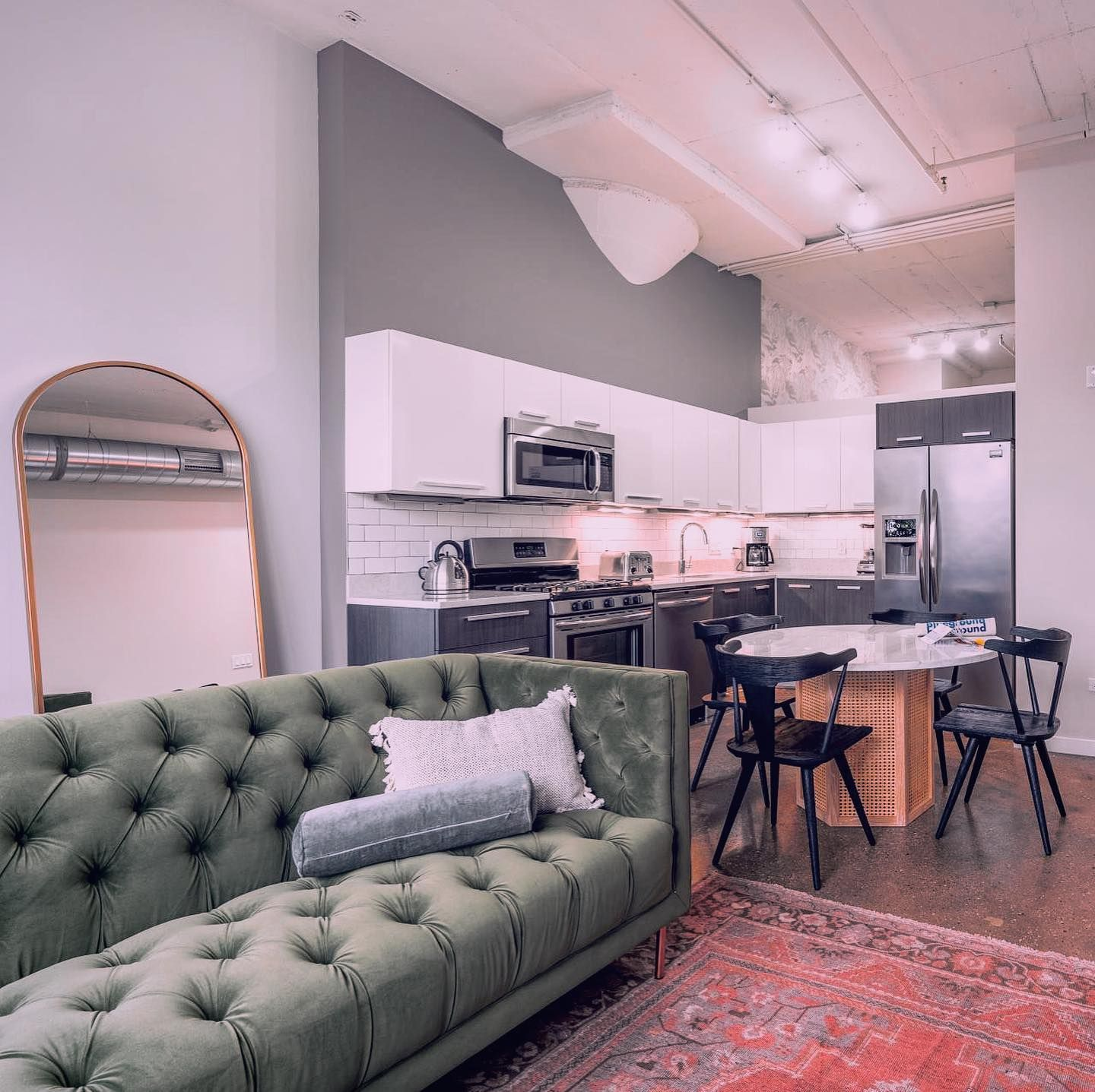 Fully furnished West Loop loft apartment for rent in