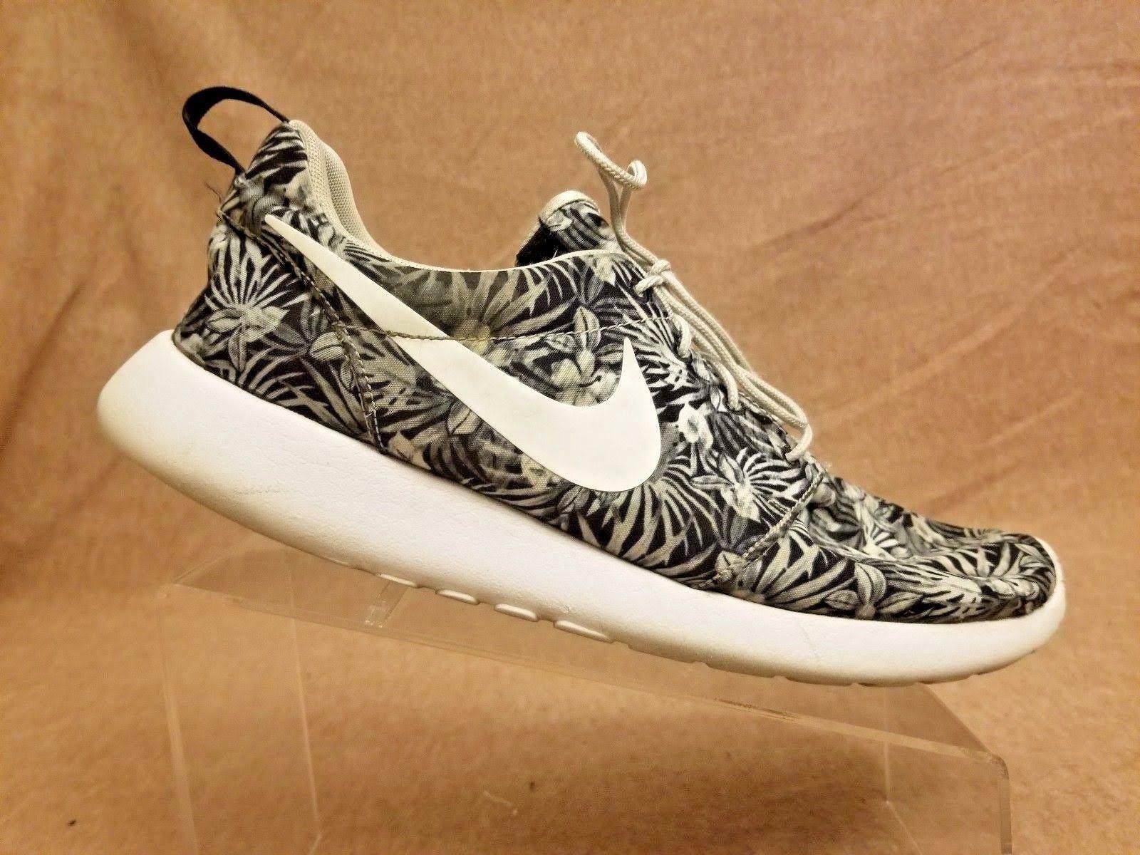 on sale 1171d 63ce7 Nike Roshe One Print Prem 833620-010 Men Black White Floral ...