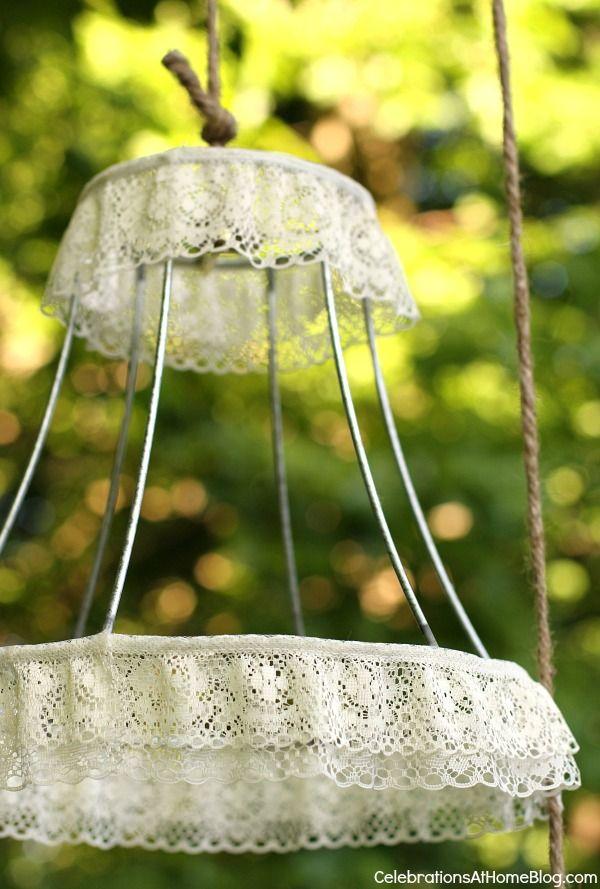DIY Dressed Up Lamp Shade Frames   Lamp shade frame, Diy ...