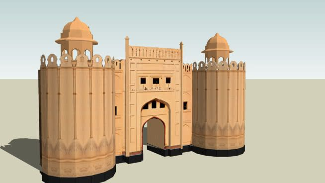 Alamgeri Gate, Lahore Fort - 3D Warehouse (With images ...