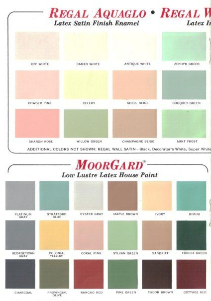 60 Colors From Benjamin Moore S 1969 Paint Palette Vintage Colour Palette Paint Colors Benjamin Moore Modern Paint Colors