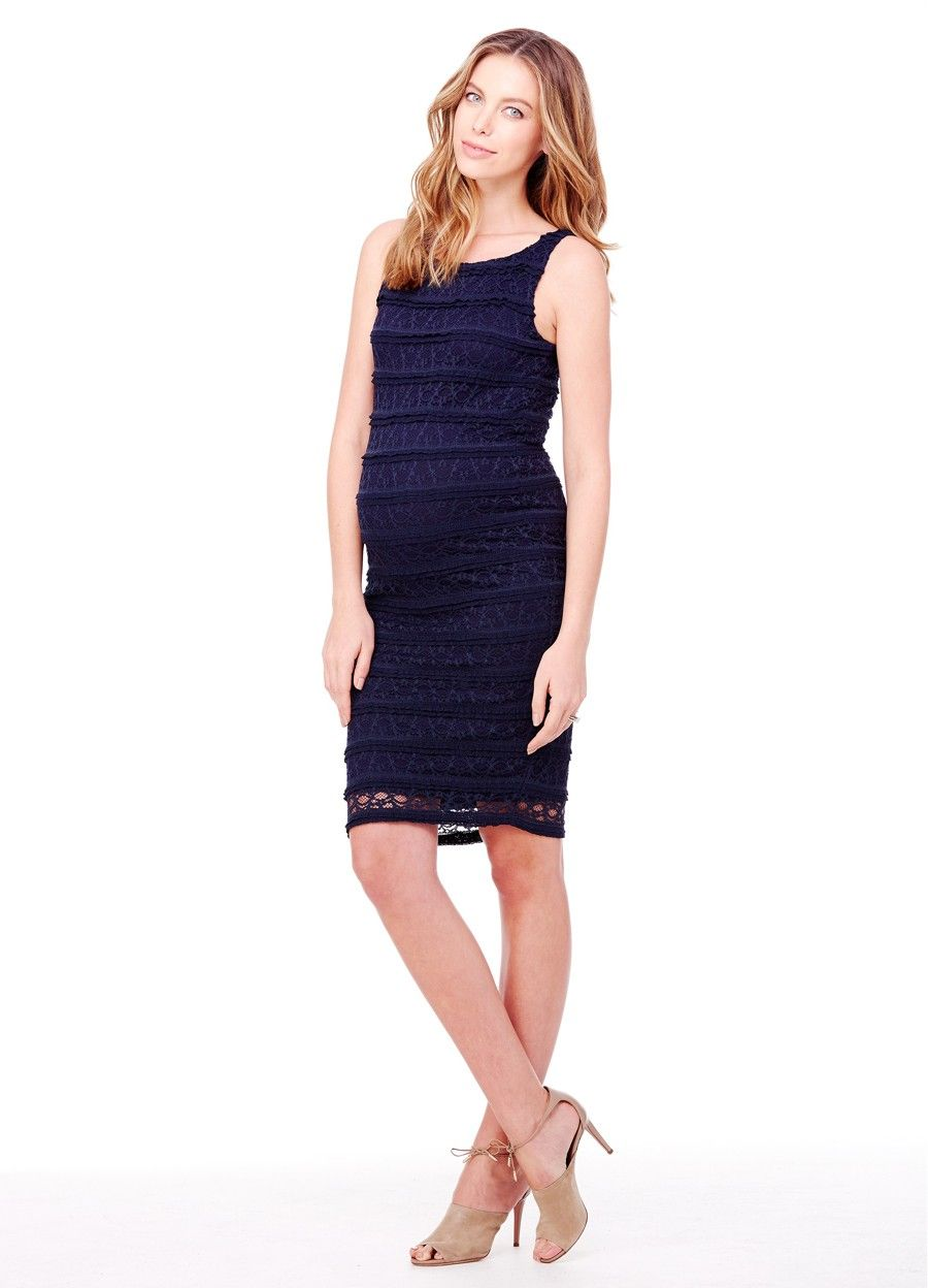 46e676b65f437 Ingrid & Isabel Maternity Sleeveless Lace Dress | Summer Date Night ...