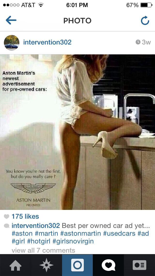 Aston Martin Advertisement Funny Pics Pinterest Voiture