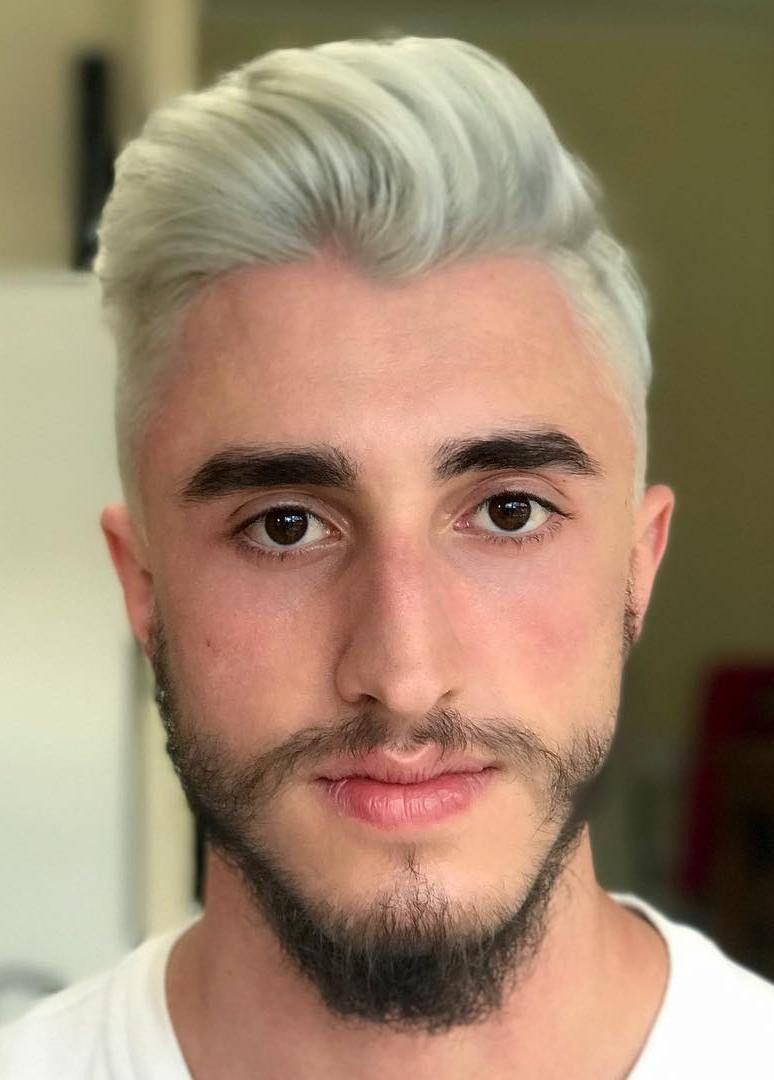 Color de pelo rubio de hombre