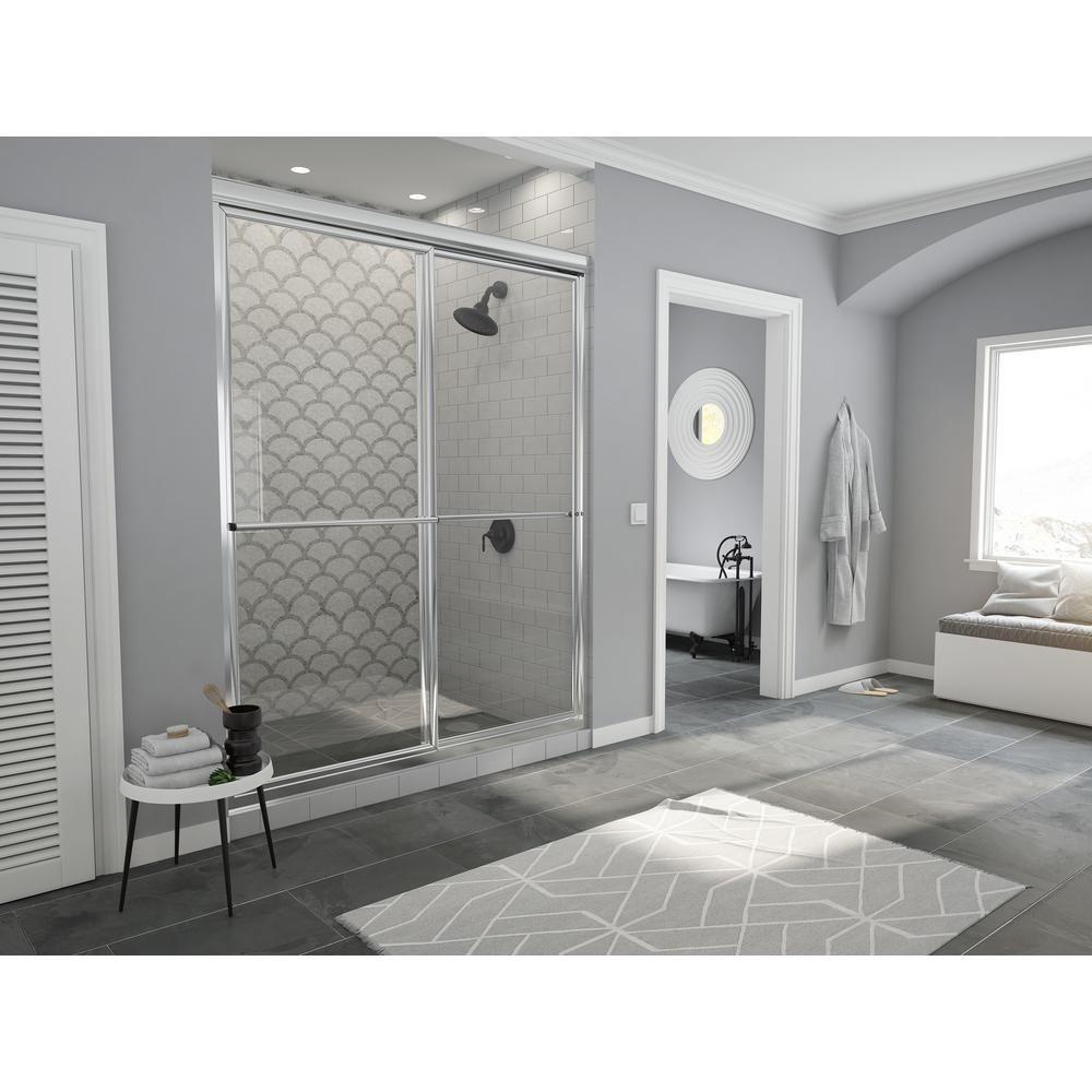 Coastal Shower Doors Newport Series 42 In X 70 In Framed Sliding