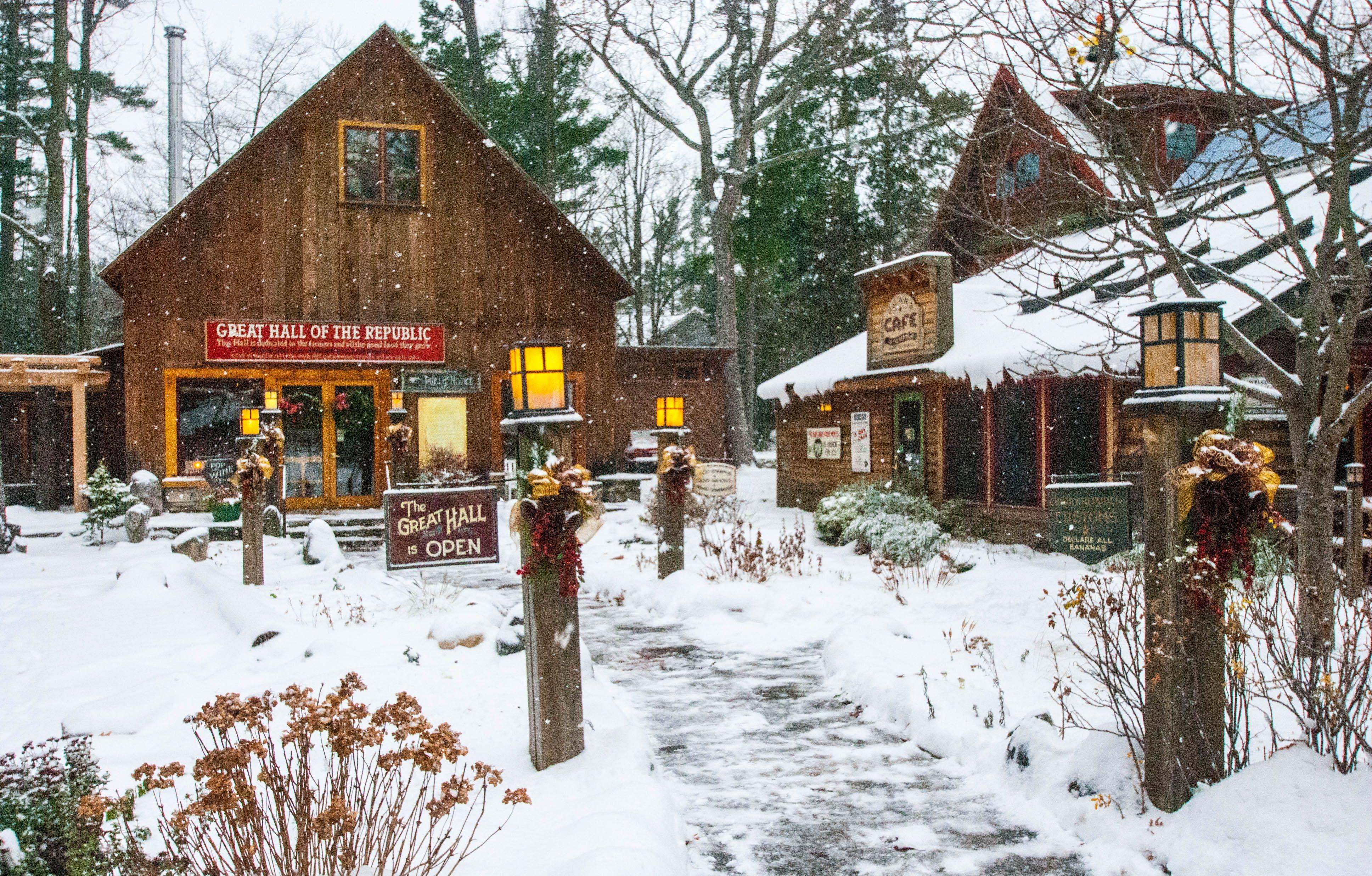Winter Wonderland At The Cherry Republic In Beautiful