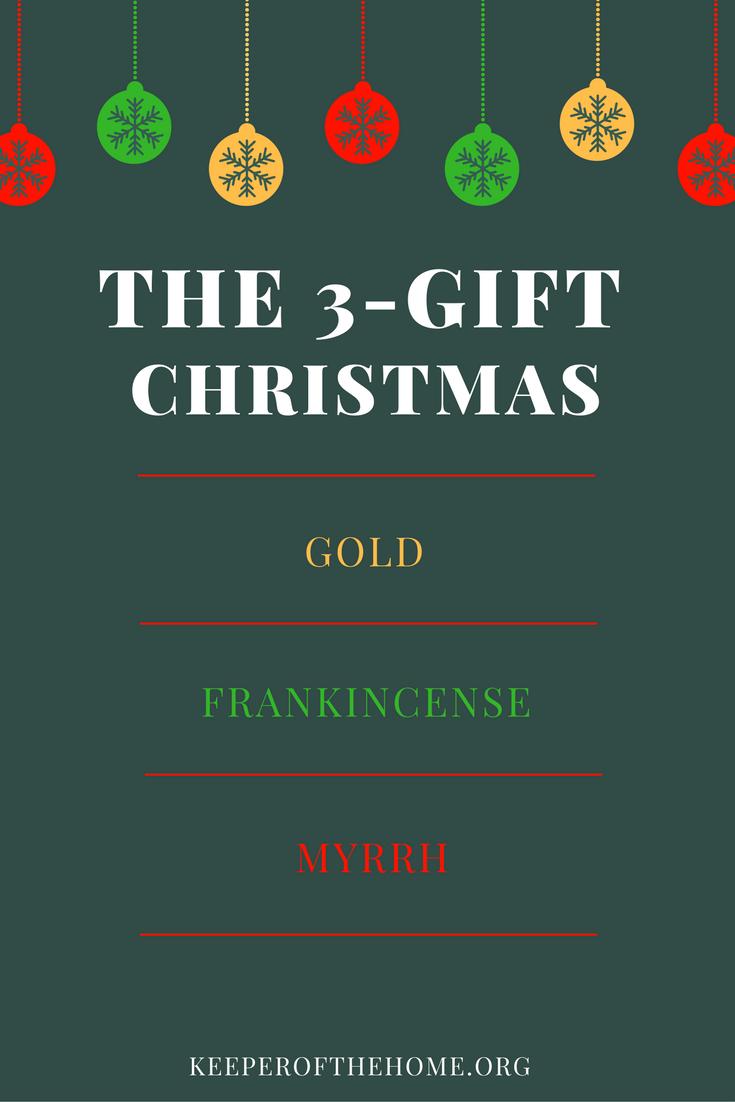 Three gifts of christmas idea