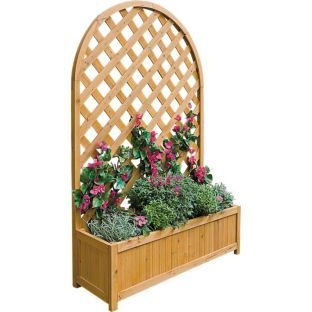 Garden Planter I Imagine It On A Wall In My Garden Lattice Garden Large Garden Planters Garden Planters