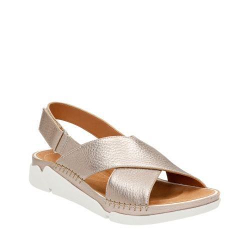 Tri Alexia Gold Metallic Womens Sandals Shoes Sandals Shoes