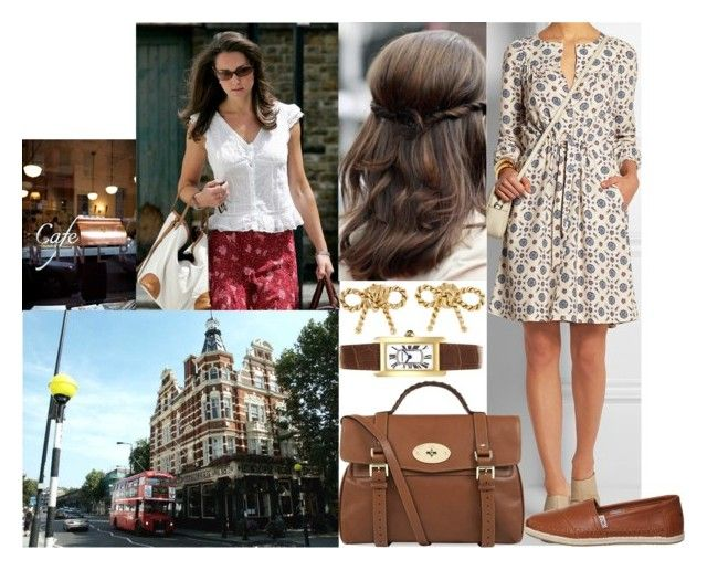 """""""Going shopping with Kate in Chelsea and afterwards grabbig coffee together"""" by marywindsor ❤ liked on Polyvore featuring A.P.C., TOMS, Mulberry, CO, Cartier, women's clothing, women, female, woman and misses"""