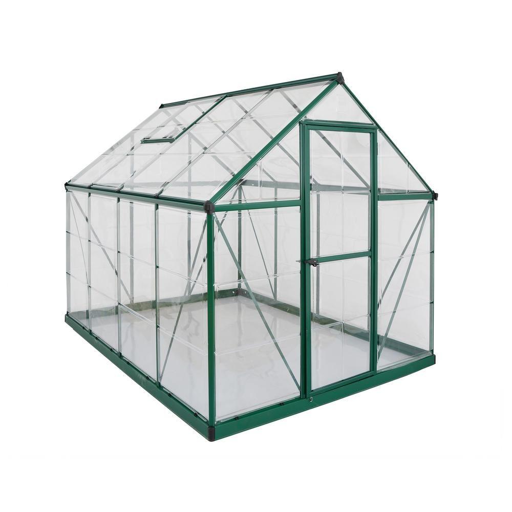 Palram Harmony 6 Ft X 8 Ft Polycarbonate Greenhouse In Green 701550 The Home Depot Polycarbonate Greenhouse Greenhouse Greenhouse Plans