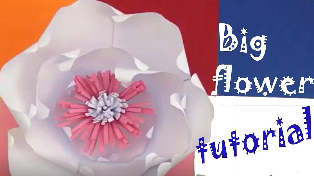 Diy Big Paper Flowers Tutorial Wall Decor Pinterest Big Paper