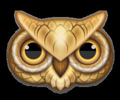 owl-head | Owl clip art, Art, Owl