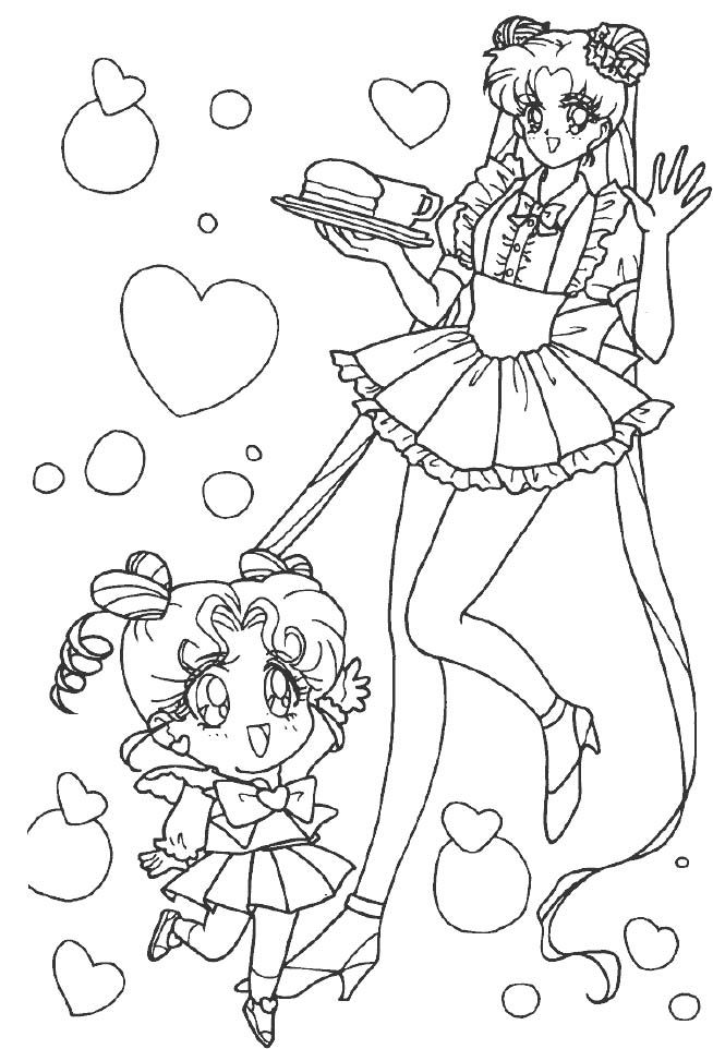 Sailor Moon With Full Of Love Coloring Pages | coloriage | Pinterest ...
