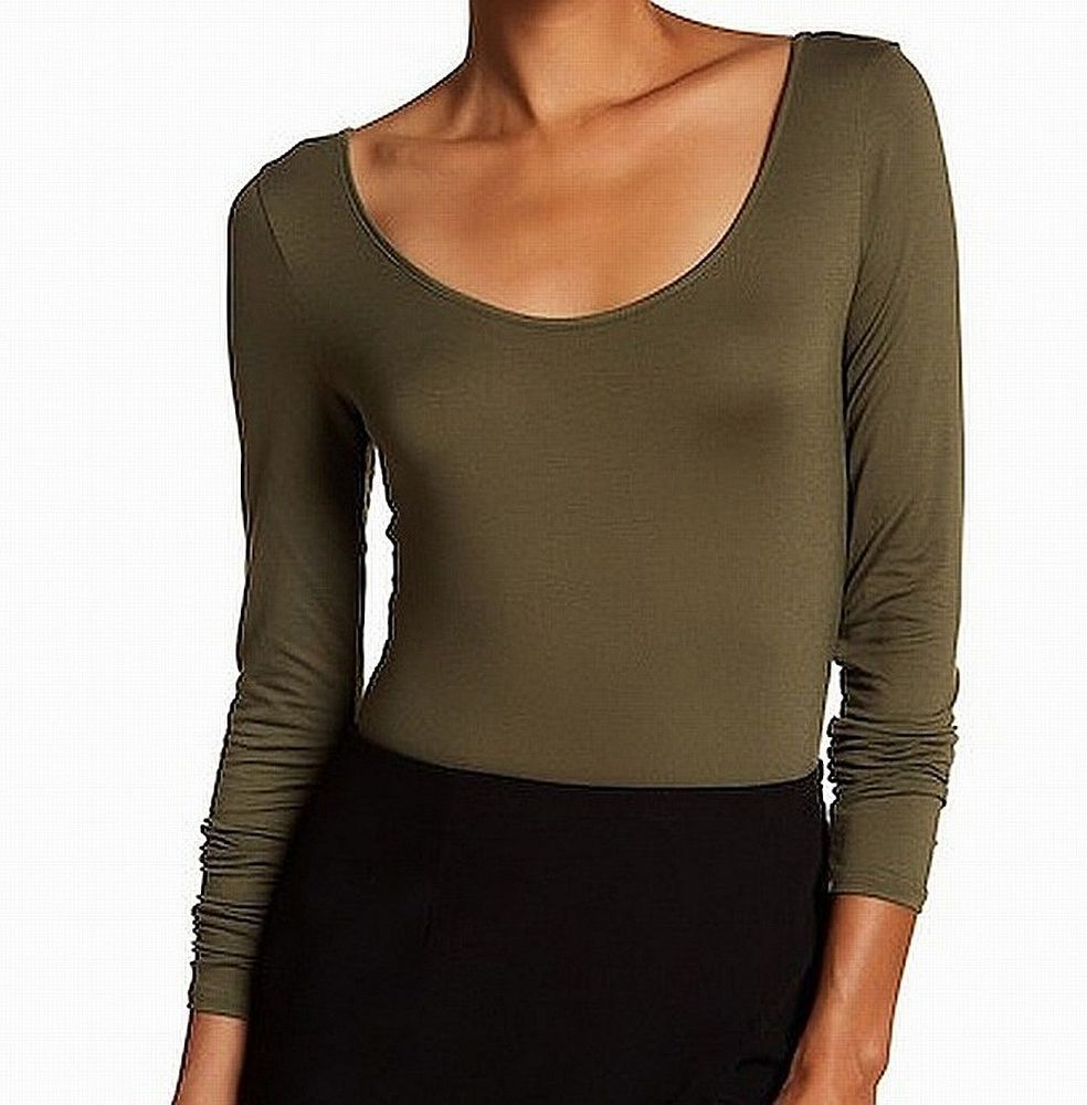 4ba0c5d4db6 Harlowe & Graham NEW Green Lace Up Women's Medium M Bodysuit Knit Top $48  #830 #fashion #clothing #shoes #accessories #womensclothing #tops (ebay  link)