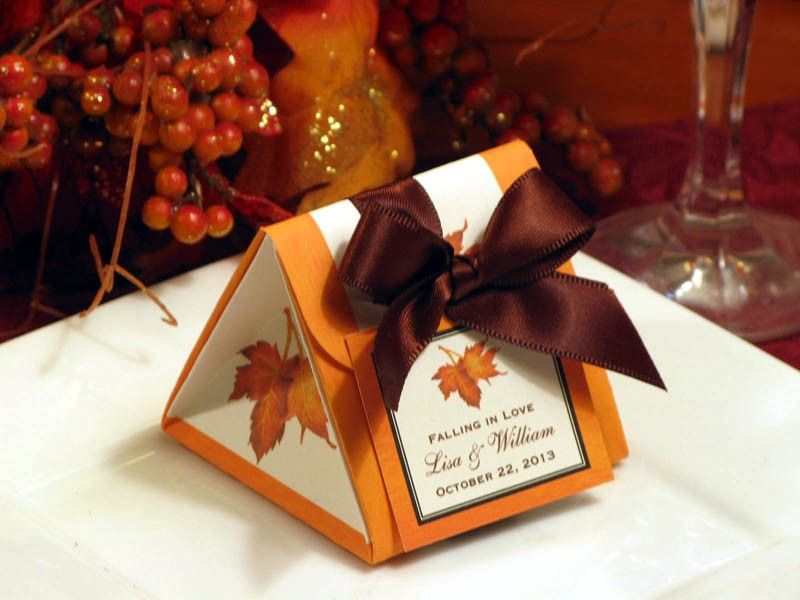 Of A Kind AUTUMN FALL Origami Favor Boxes