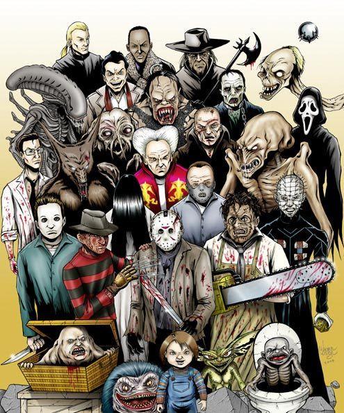 horror movie illustrations - Google Search | Illustration ...