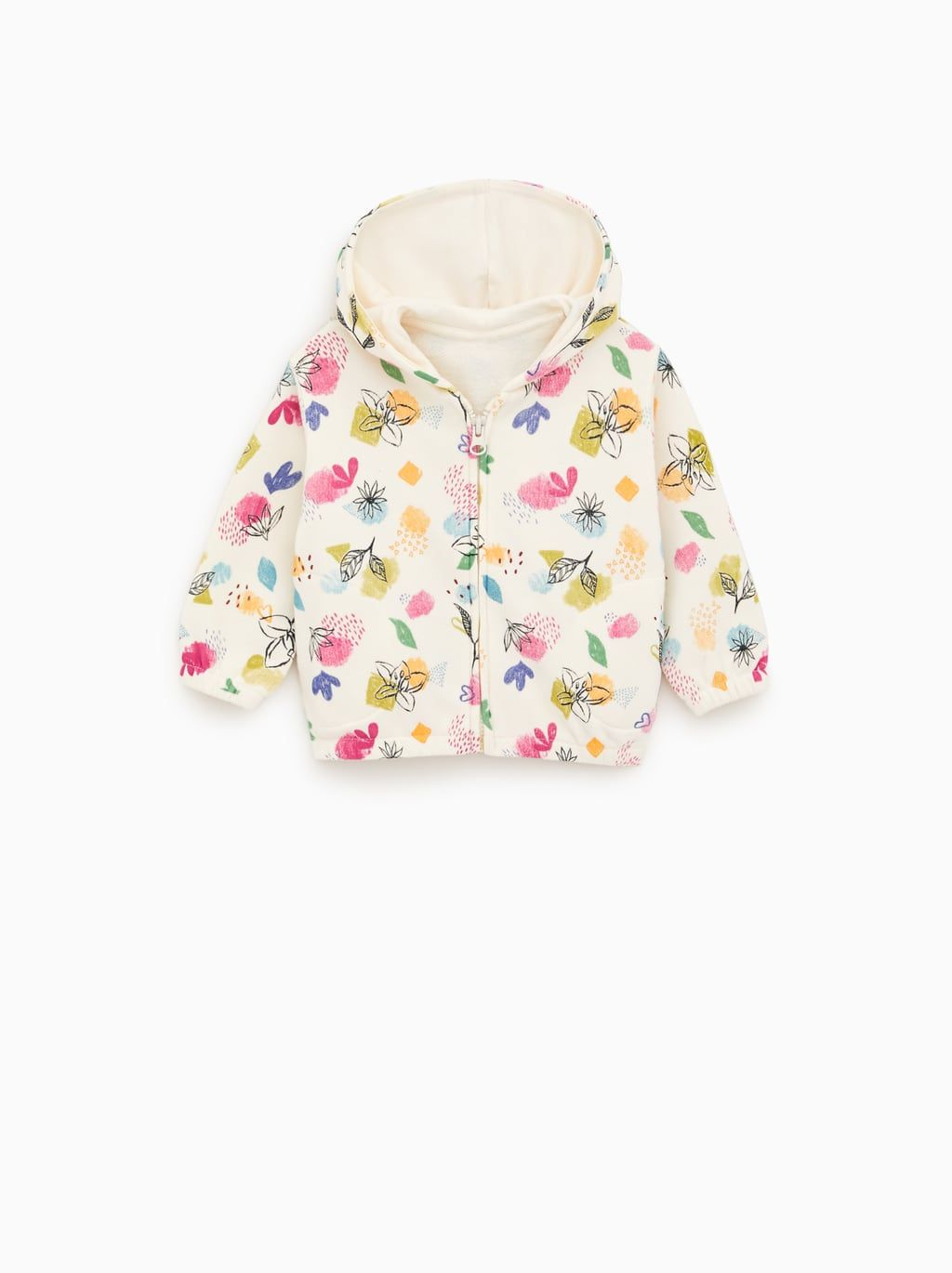 Image 1 of FLORAL PLUSH JACKET from Zara  a3d3d237e0f