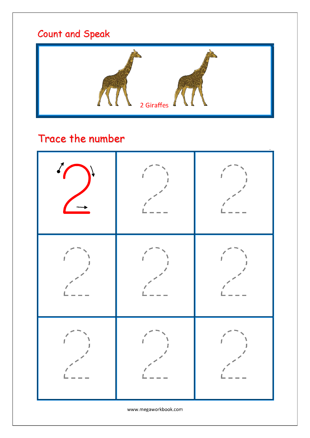 Number Tracing Worksheets Tracing Numbers 1 to 10