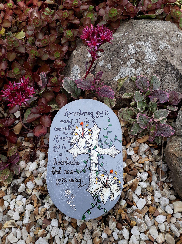 Large memorial stone in loving memory gift remembrance