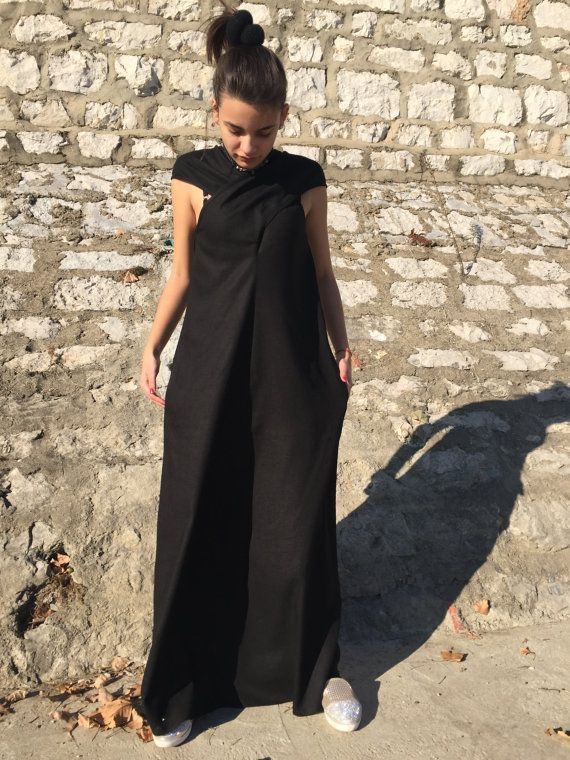 Vestido maxi Plus tamaño Vestido de lino lino vestido por MyStyleM