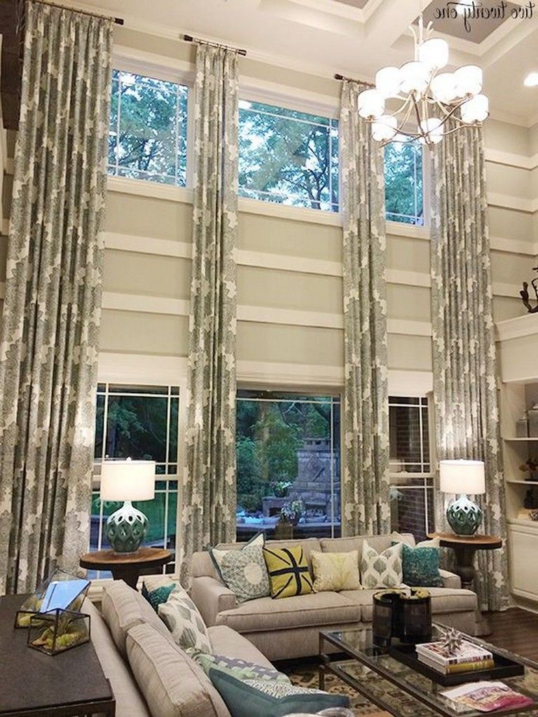 60 Incridible Tall Curtains Ideas For Your Home Living Room