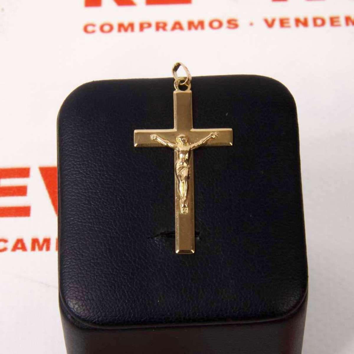 6843306cfdfd  Colgante  crucifijo de oro E264210B de segunda mano
