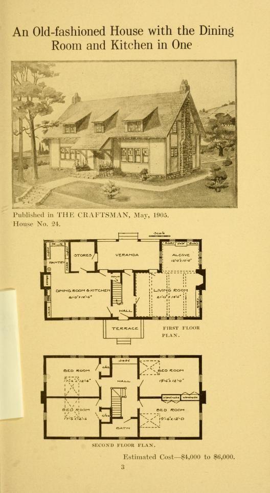 Twenty Four Craftsman Houses With Floor Plans Stickley Gustav 1858 1942 Free Download Borrow Architectural Floor Plans Vintage House Plans Floor Plans