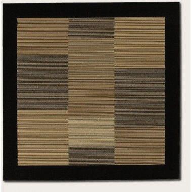 Couristan Everest Hamptons Multi Stripe Black Contemporary Square Rug 0766 0601 Sqr