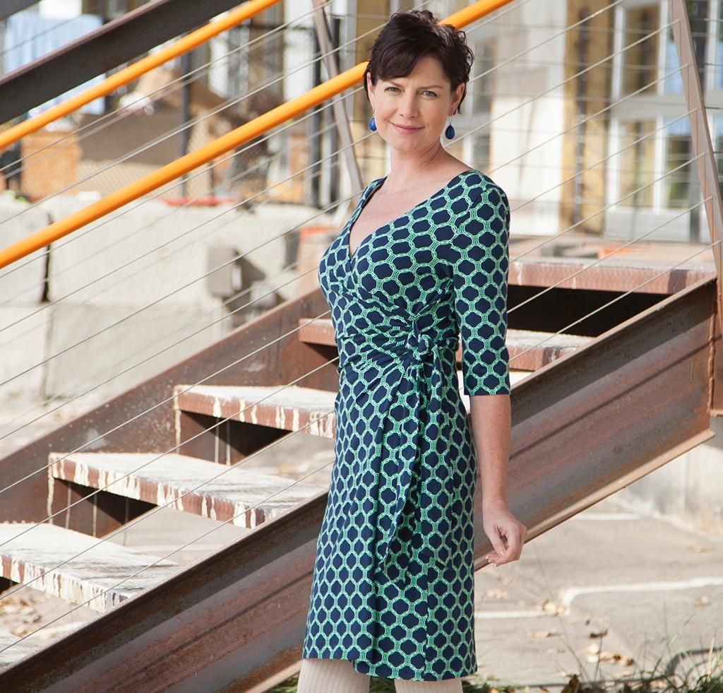 That\'s a Wrap Dress Kit - McCalls 6884 in Kaufman Laguna Jersey ...