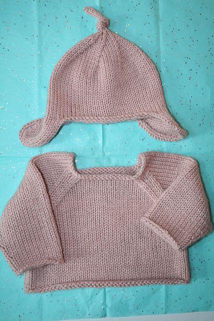 Debbie Bliss Raglan Sweater and Ear Flap Hat patterns ...