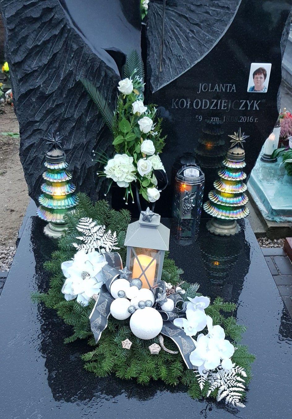 Dekoracja Nagrobna Komplet Bukiet Wiazanka Dekoracja Nagrobna Kwiaty Sztuczne Stroi Funeral Floral Church Flower Arrangements Funeral Flower Arrangements
