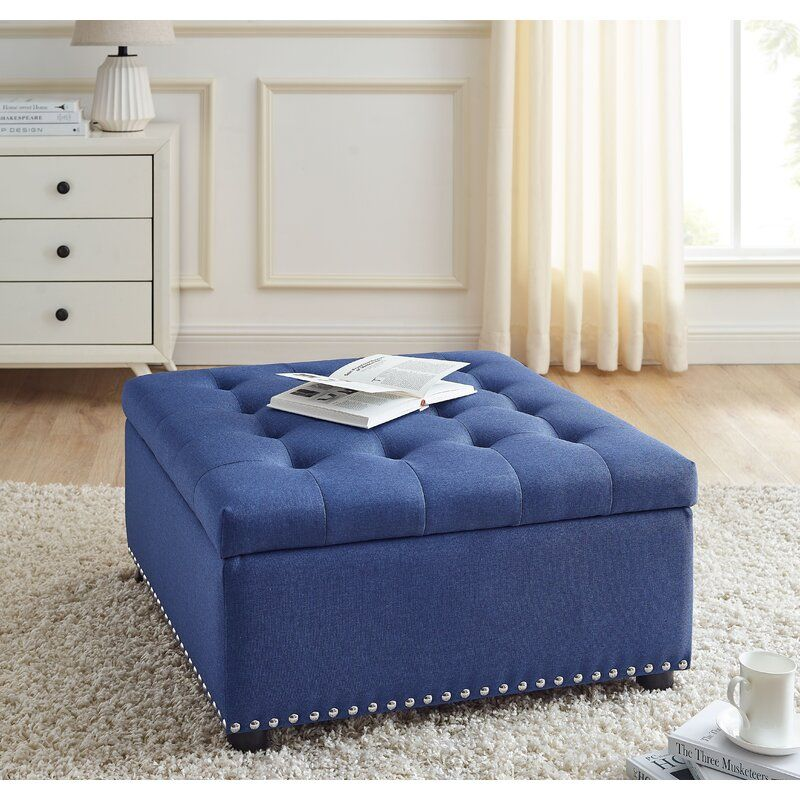 audel 30 tufted square storage ottoman