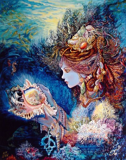 A sea goddess by Josephine Wall, another one of my favorite artists. i don't know where this puzzle ended up.