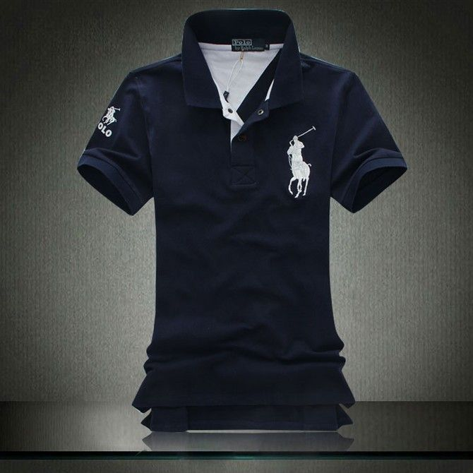 Ralph Lauren Men's Orange Big Pony Darkgreen Polo