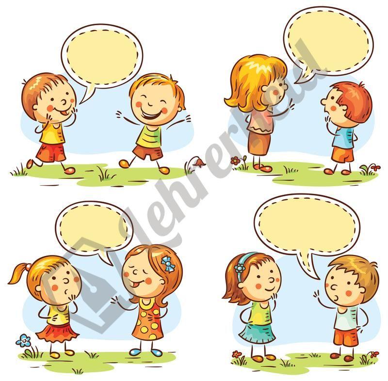 Sprechende Kinder mit Emotionen   Arbeitsblätter, Grundschulen und ...