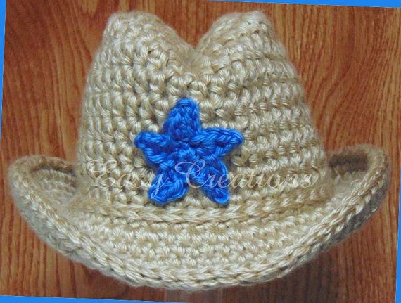 DOUBLE Strand Baby Cowboy Hat PDF CROCHET Pattern by Easy ...
