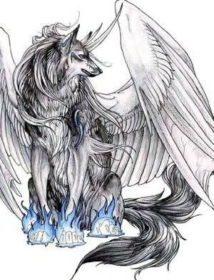 Demon Wolf With Wings : demon, wings, Wolves, Fantasy, Wolf,, Anime, Pictures