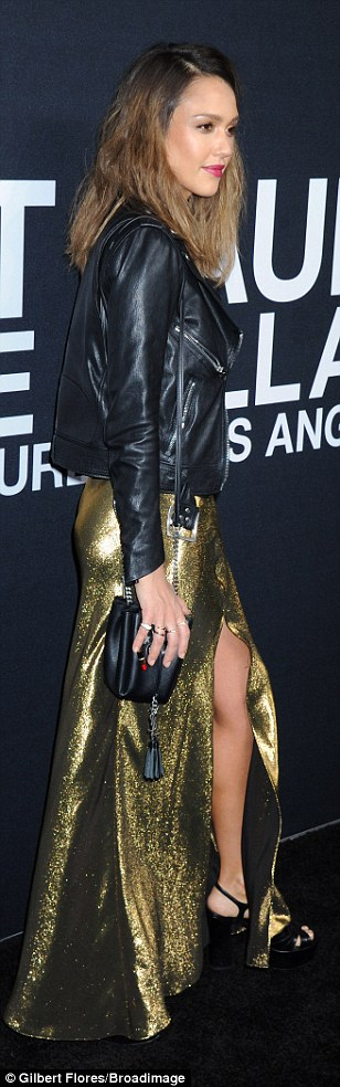 Wowing them:Jessica Alba took home the gold in the style stakes when she arrived to Saint...