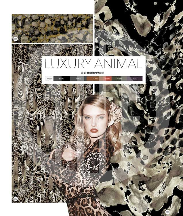 Luxury Silvery Animal Prints In Fashion And Decor For 2018
