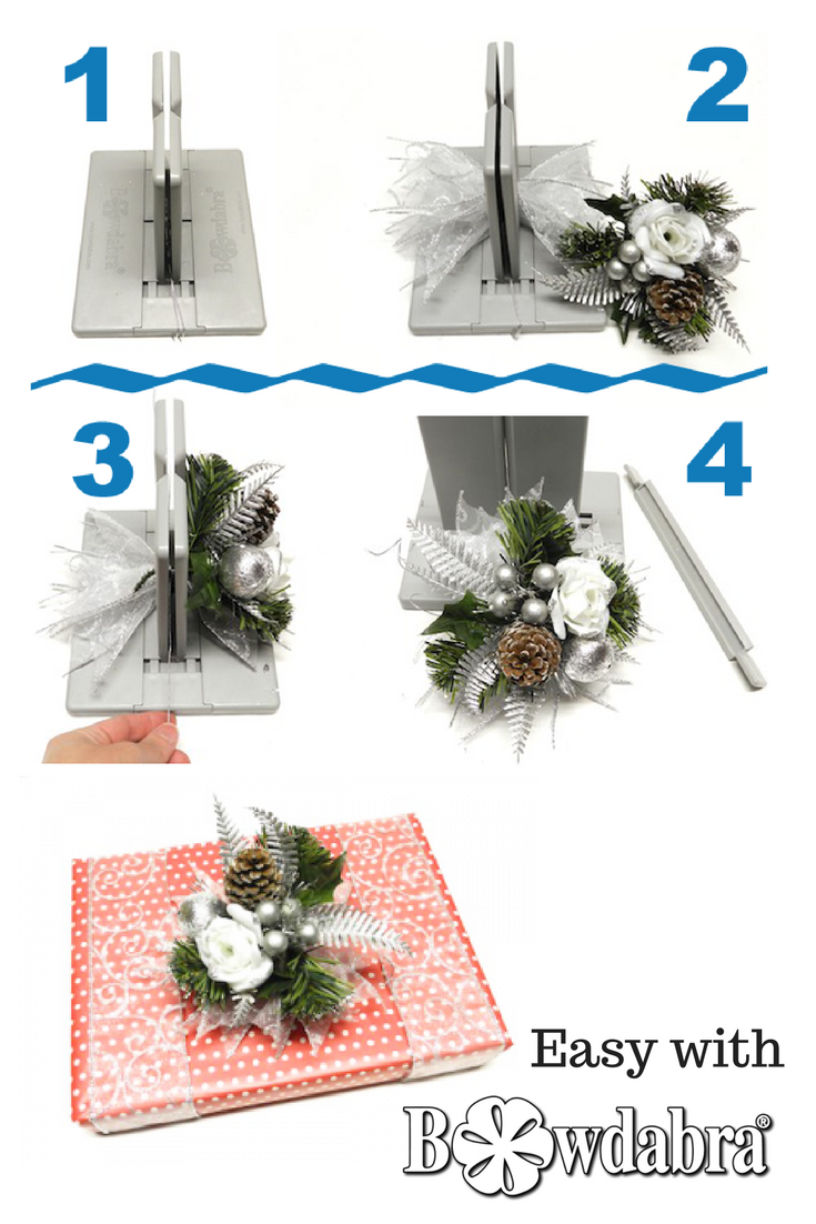 Bowdabra Gift Wrapping with Wire Ribbon Christmas Bows | Christmas ...