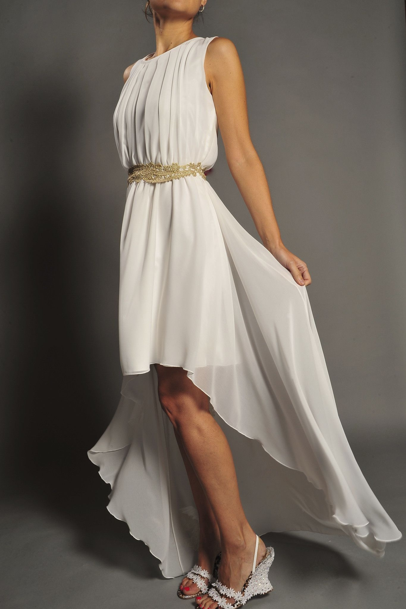 Vestido de novia estilo griego modelo 3483 by Veneno en la piel ...
